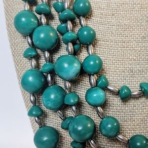 Chico's Jewelry - Chico's Variegated Turquoise Beaded Necklace